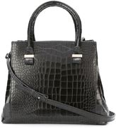 Victoria Beckham embossed crocodile effect mini tote - women - Cotton/Calf Leather/Acrylic - One Size