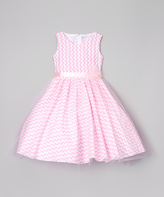 Pink Zigzag A-Line Dress - Toddler & Girls