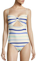 Kate Spade Province Town Striped One-Piece Swimsuit