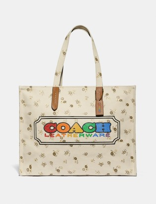 Coach Tote With Rainbow Badge