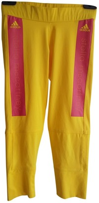 Stella Mccartney Pour Adidas Yellow Synthetic Trousers