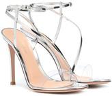 Gianvito Rossi Plexi and metallic leather sandals