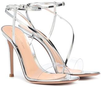 Gianvito Rossi Manhattan 105 leather sandals