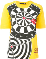 Love Moschino dart print T-shirt - women - Cotton - 40