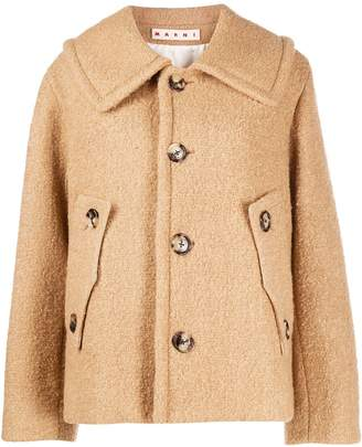 Marni oversized teddy jacket
