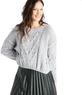 Sole Society Side Slit Cable Front Sweater