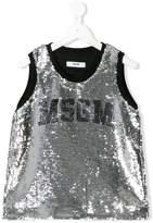 MSGM sequin logo top