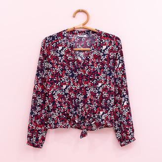 koporal - Flowers Shirt - XS (0) | polyester | blue | flowers print - Blue/Blue