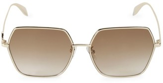 Alexander McQueen 62MM Hexagon Sunglasses