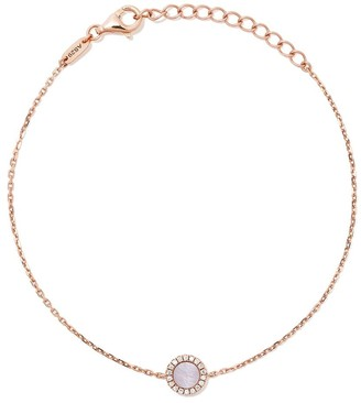 As 29 18kt rose gold Miami round pearl and diamond bracelet