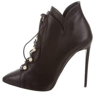 Giuseppe Zanotti Embellished Pointed-Toe Booties