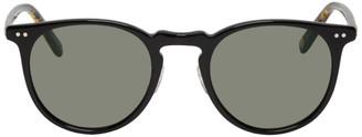 Garrett Leight Black and Gold Ocean Sunglasses