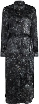 Märta Larsson Galaxy print midi shirt dress