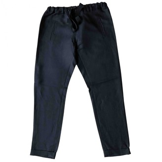 Rue Blanche Black Cloth Trousers for Women