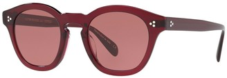 Oliver Peoples Bourdreau LA 48mm Round Sunglasses