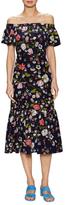 Rebecca Taylor Silk Printed Drop Waist Dress