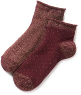 La Redoute Collections Pack of 2 Pairs of Fashion Ankle Socks