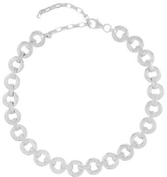 Alta Ora - Circle Drop Sterling-silver Chain Necklace - Womens - Silver