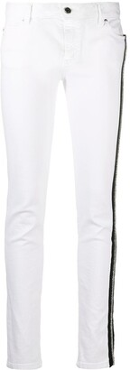 Just Cavalli Stripe Embellished Skinny Jeans