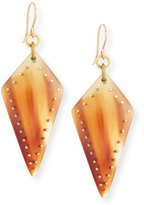 Ashley Pittman Radi Studded Mixed Horn Drop Earrings