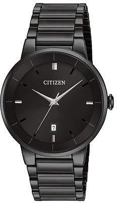Citizen Quartz Mens Black Stainless Steel Bracelet Watch-Bi5017-50e No Color Family