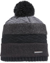 Sean John Men's Mixed-Media Pom Beanie Hat
