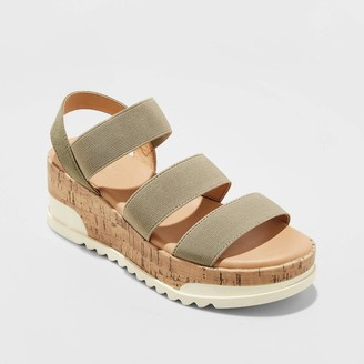 Universal Thread Women's Benni Sporty Cork Bottom Platform Sandals - Universal ThreadTM