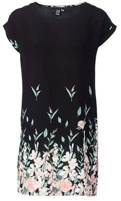 Dorothy Perkins Womens *Izabel London Black Floral Print Shift Dress, Black