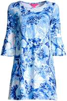 Lilly Pulitzer Ophelia Floral Bell-Sleeve Shift Dress