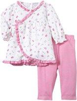 Kissy Kissy Wee Baker Print Dress w/Legging (Baby) - Fushia-3-6 Months