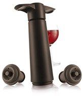Vacu-Vin Wine Saver Gift Set - Brown | 1 x Vacuum Pump + 2 x Vacuum Wine Stopper
