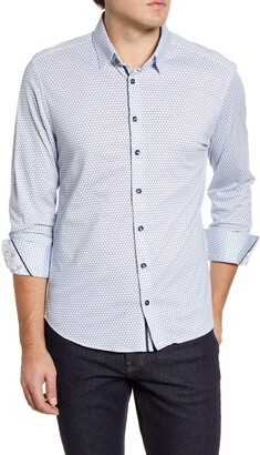 Stone Rose Button-Up Performance Knit Shirt