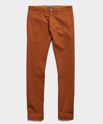 Todd Snyder Japanese Garment Dyed Selvedge Chino in Chestnut