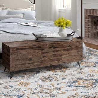 Three Posts Sherry Wood Flip Top Storage Bench