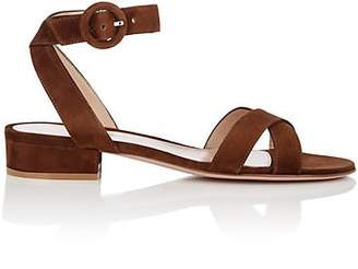 Gianvito Rossi Women's Suede Ankle-Strap Sandals - Brown