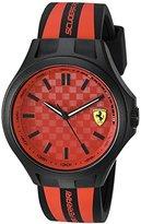 Ferrari Scuderia Men's Quartz Plastic and Silicone Casual Watch, Color:Black (Model: 0830281)