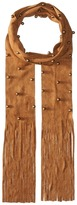 Steve Madden Bauble Studded Faux Suede Skinny Scarf