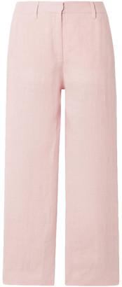 Mansur Gavriel Cropped Linen Straight-leg Pants