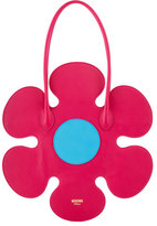Moschino Flower Leather Shoulder Bag, Pink