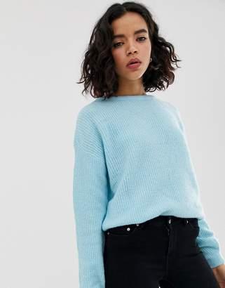 Vero Moda rib knit open back detail sweater
