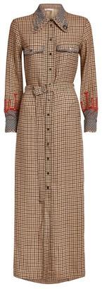 Chloé Windowpane Print Shirt Dress