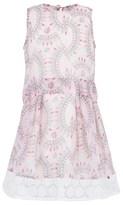 Supertrash Lipstick Print Chiffon Dress