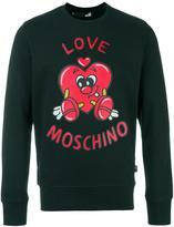 Love Moschino heart logo print sweatshirt