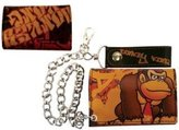 Nintendo DONKEY KONG Leather Tri-Fold WALLET w/Chain