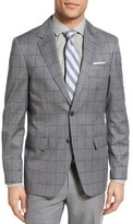 Moods of Norway Men's Bergen Trim Fit Windowpane Wool Sport Coat