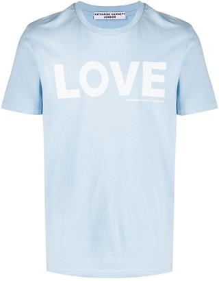 Katharine Hamnett slogan print organic cottonT-shirt
