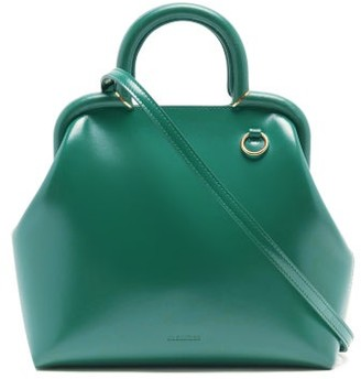 Jil Sander Logo-debossed Small Top-handle Leather Handbag - Green