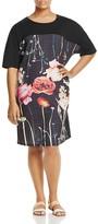 Marina Rinaldi Oklahoma Floral Print Tee Dress