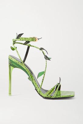 Versace Watersnake Sandals - Green