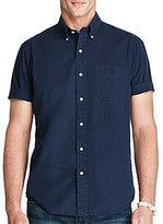 Polo Ralph Lauren Solid Seersucker Short-Sleeve Woven Shirt